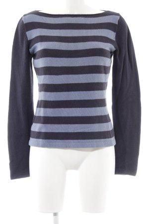 Ann Taylor Strickshirt dunkelblau-kornblumenblau Streifenmuster