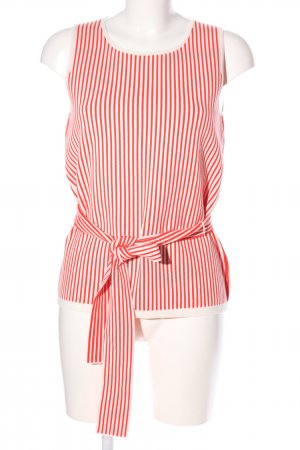 Ann Taylor Knitted Top red-white striped pattern casual look