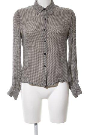 Ann Taylor Transparenz-Bluse schwarz-weiß Allover-Druck Business-Look