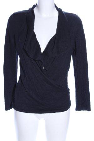 Ann Taylor V-Ausschnitt-Pullover blau Business-Look