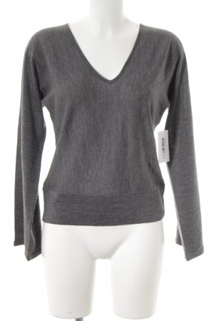 Ann Taylor V-Neck Sweater grey casual look