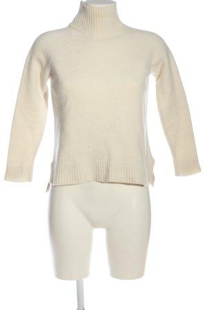 Ann Taylor Wełniany sweter w kolorze białej wełny W stylu casual