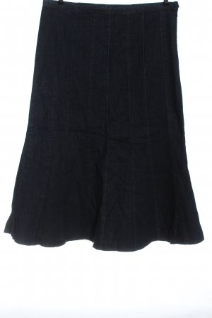 Anna Aura Denim Skirt blue weave pattern casual look