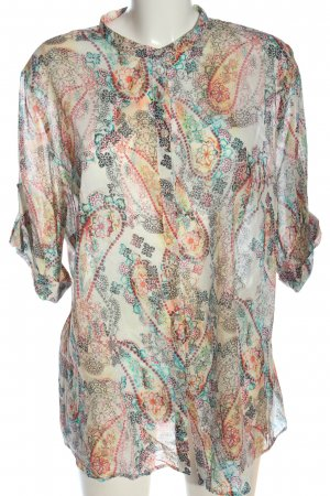 Anna Aura Koszula z krótkim rękawem Abstrakcyjny wzór W stylu casual