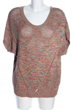 Anna Aura Sweater met korte mouwen gestippeld casual uitstraling