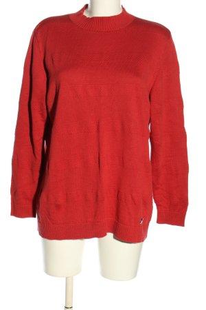 Anna Aura Sweter z okrągłym dekoltem czerwony W stylu casual