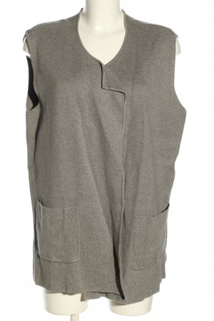 Anna Aura Knitted Vest light grey flecked casual look