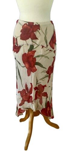 Anna Cosu Gonna a tulipano bianco-rosso