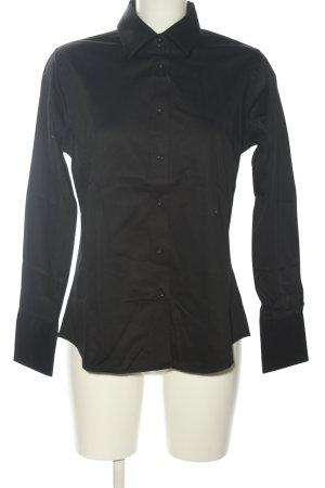 Anna David Shirt met lange mouwen zwart casual uitstraling