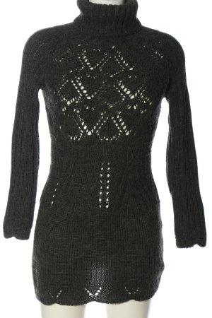 Anna David Sweaterjurk lichtgrijs gestippeld casual uitstraling
