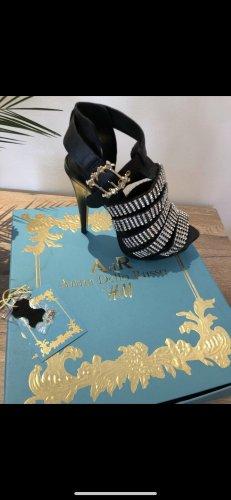 Anna Dello Russo for H&M Tacones altos negro-color plata