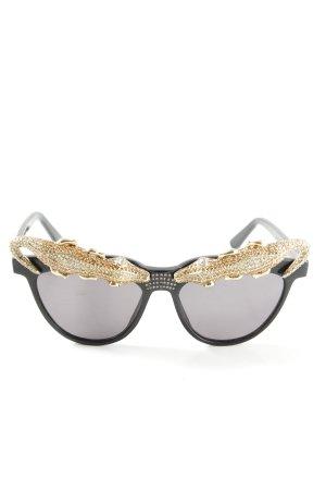 Anna Dello Russo for H&M Butterfly Brille schwarz-goldfarben Elegant