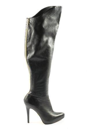 Anna Dello Russo for H&M Botas estilo militar negro look casual