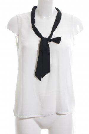 anna & ella Sleeveless Blouse white-black business style