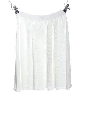 anna & ella Rozkloszowana spódnica biały W stylu casual
