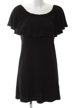 anna & ella Sukienka z dżerseju czarny W stylu casual