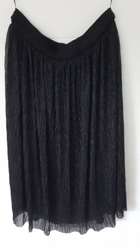 anna & ella Plisowana spódnica czarny-srebrny