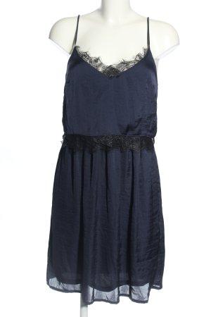 anna & ella Koronkowa sukienka niebieski-czarny W stylu casual