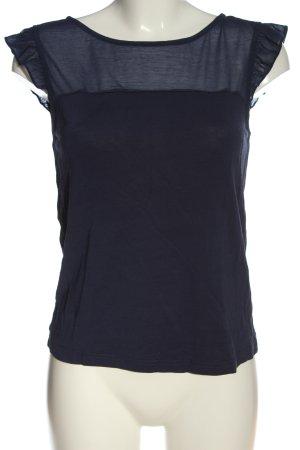 anna & ella Gebreid shirt blauw casual uitstraling