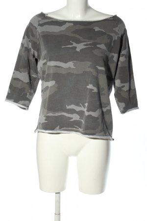 Anna F. T-shirt lichtgrijs camouflageprint casual uitstraling