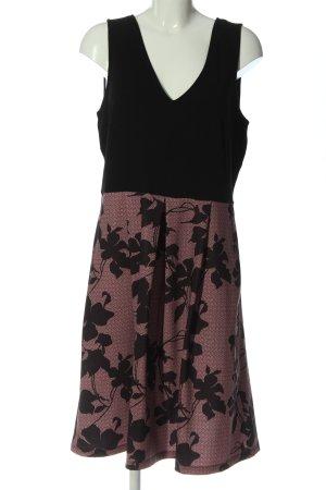 Anna Field Abito linea A nero-rosa motivo astratto elegante