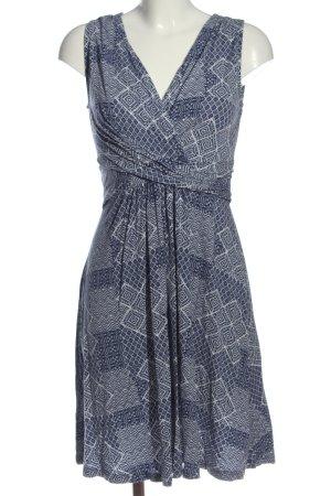 Anna Field Sukienka o kroju litery A niebieski-biały Graficzny wzór