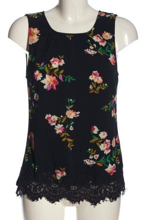 Anna Field ärmellose Bluse schwarz Blumenmuster Casual-Look