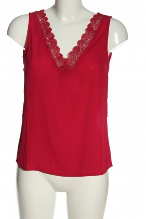 Anna Field Mouwloze blouse rood casual uitstraling