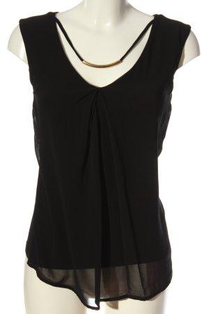 Anna Field Mouwloze blouse zwart casual uitstraling