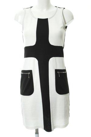 Anna Field Bleistiftkleid schwarz-weiß grafisches Muster Business-Look