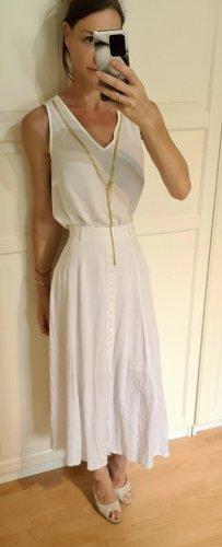 Anna Field Mouwloze blouse wit-goud