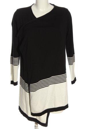 Anna Field Cardigan noir-blanc motif rayé style décontracté