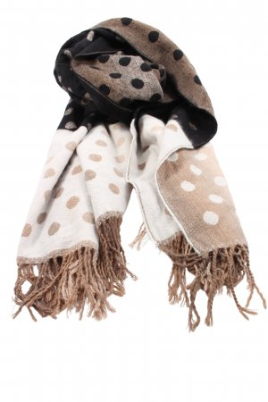 Anna Field Sjaal met franjes gestippeld patroon casual uitstraling