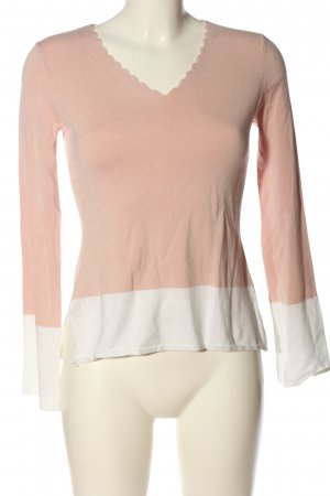 Anna Field Coarse Knitted Sweater pink-white casual look