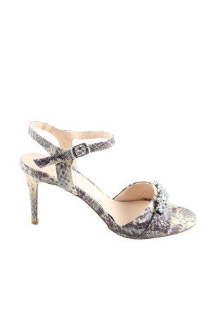 Anna Field Sandalias de tacón alto gris claro estampado de animales elegante