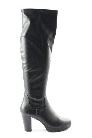 Anna Field Wysokie buty na obcasie czarny W stylu biznesowym