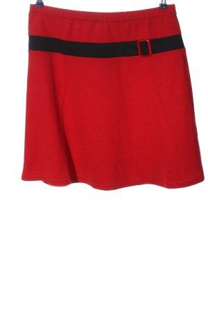 Anna Field Rok met hoge taille rood-zwart gestreept patroon casual uitstraling