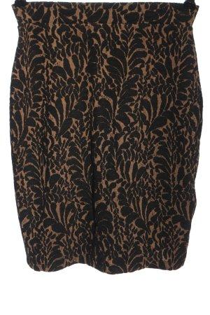 Anna Field Spódnica z wysokim stanem brązowy-czarny Graficzny wzór