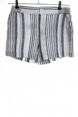 Anna Field High-Waist-Shorts light grey-white striped pattern casual look