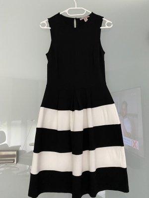 Anna Field Vestido de tela de jersey negro-blanco