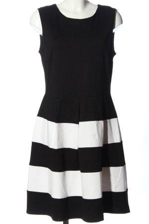 Anna Field Sukienka z krótkim rękawem czarny-biały Wzór w paski