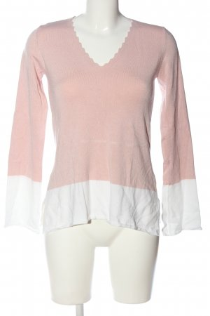 Anna Field Langarm-Bluse weiß-pink Casual-Look