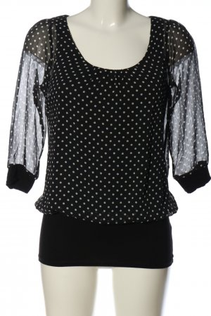 Anna Field Long Sleeve Blouse black-white spot pattern casual look