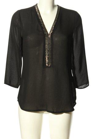 Anna Field Langarm-Bluse schwarz Elegant
