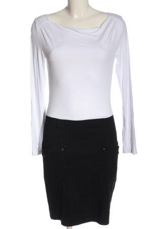 Anna Field Vestido de manga larga blanco-negro look casual