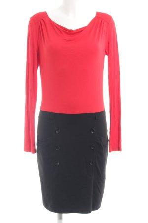 Anna Field Langarmkleid rot-schwarz Elegant