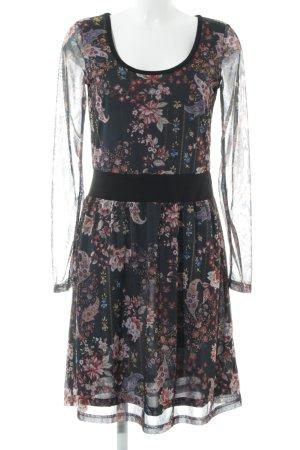 Anna Field Robe à manches longues noir-vieux rose motif floral