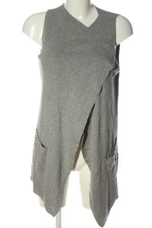 Anna Field Cardigan lungo smanicato grigio chiaro stile casual