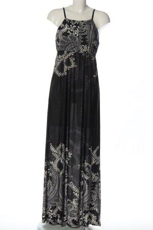 Anna Field Maxi-jurk zwart-wit Patroon-mengeling elegant