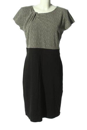 Anna Field Mini-jurk lichtgrijs-zwart abstract patroon casual uitstraling
